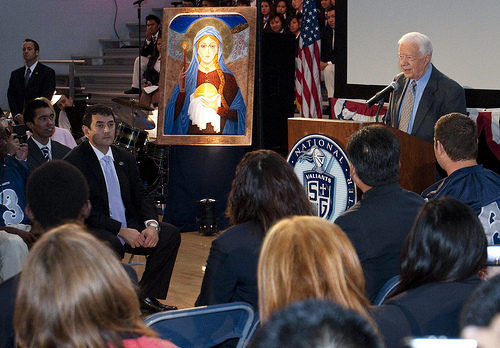 Jimmy Carter speaking at SGHS