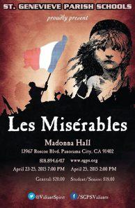 Les Miserable, April 23-25