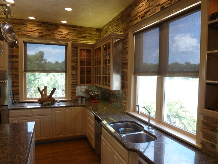 Roller Screen Shade Kitchen
